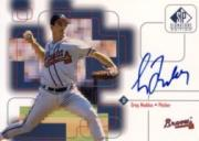 1999 SP Signature Autographs #GM Greg Maddux