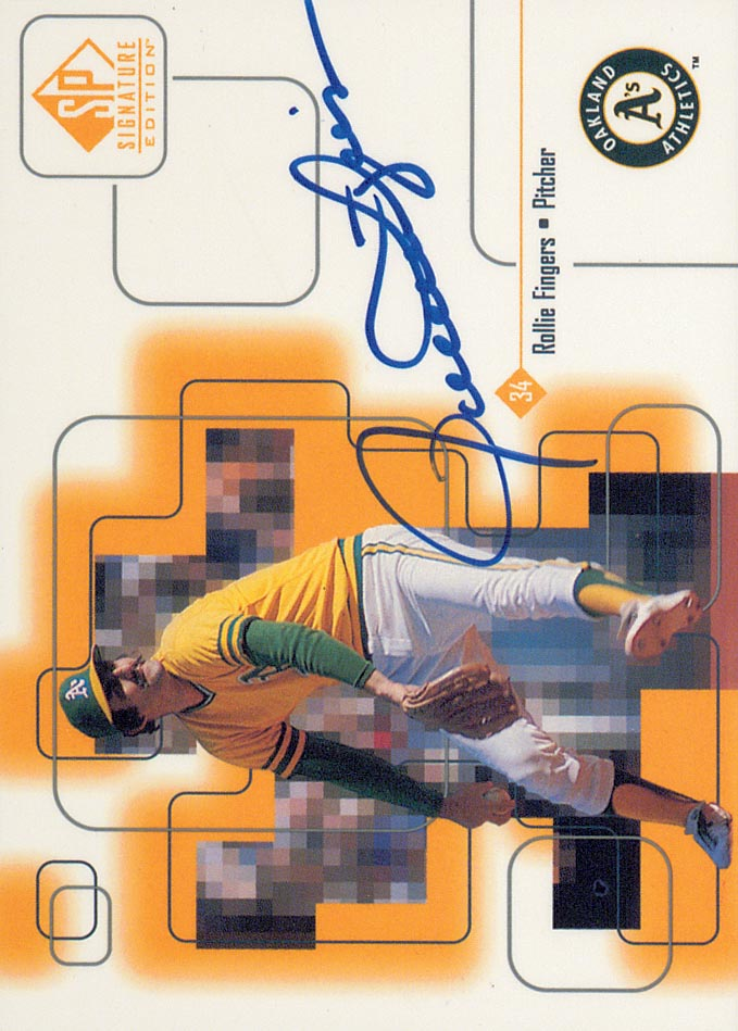 1999 SP Signature Autographs #ROL Rollie Fingers
