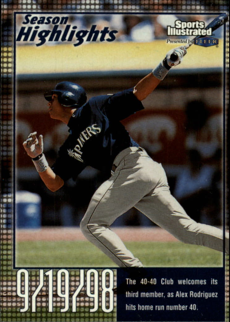 1999 Sports Illustrated #36 Alex Rodriguez SH