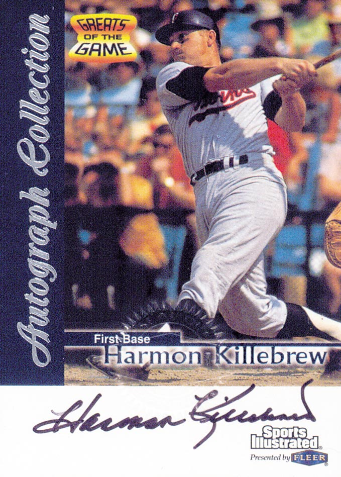 1999 Sports Illustrated Greats of the Game Autographs #39 Harmon Killebrew