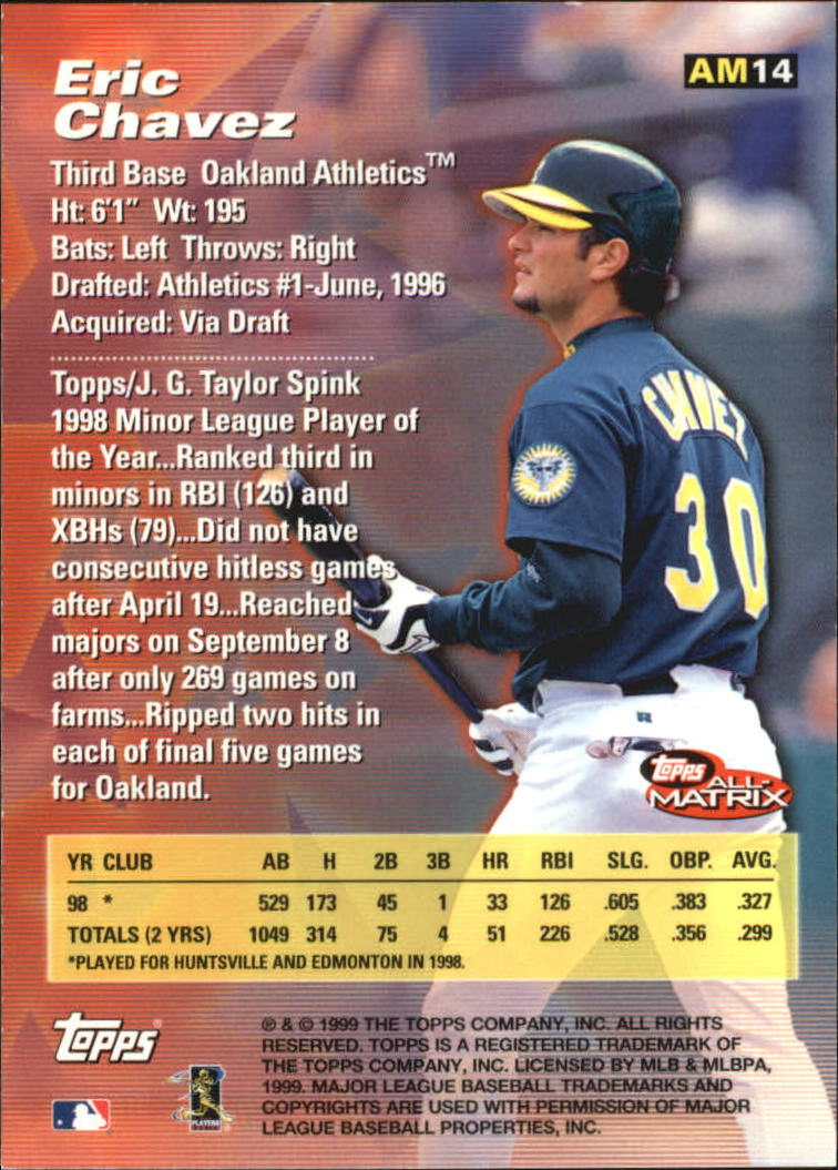 1999 Topps All-Matrix #AM14 Eric Chavez