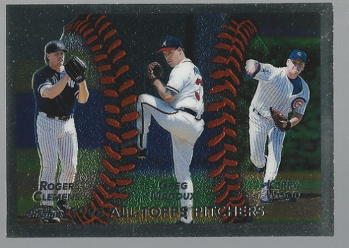 1999 Topps Chrome #460 Clemens/Wood/Maddux AT