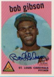 1999 Topps Stars Rookie Reprints Autographs #4 Bob Gibson
