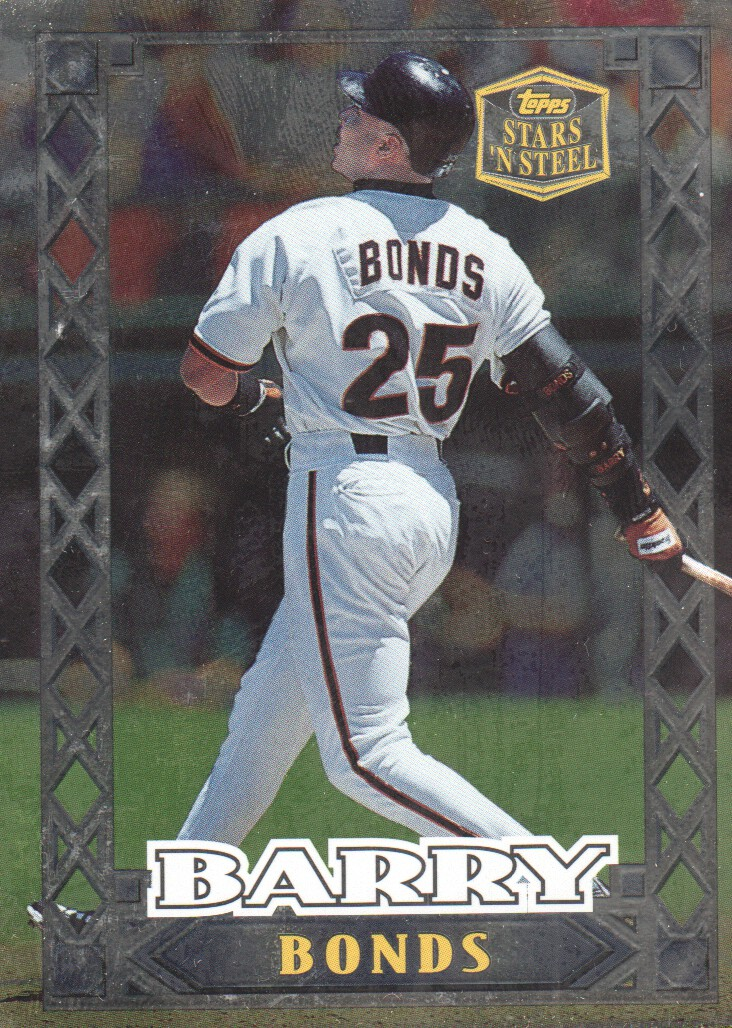 1999 Topps Stars 'N Steel #14 Barry Bonds front image