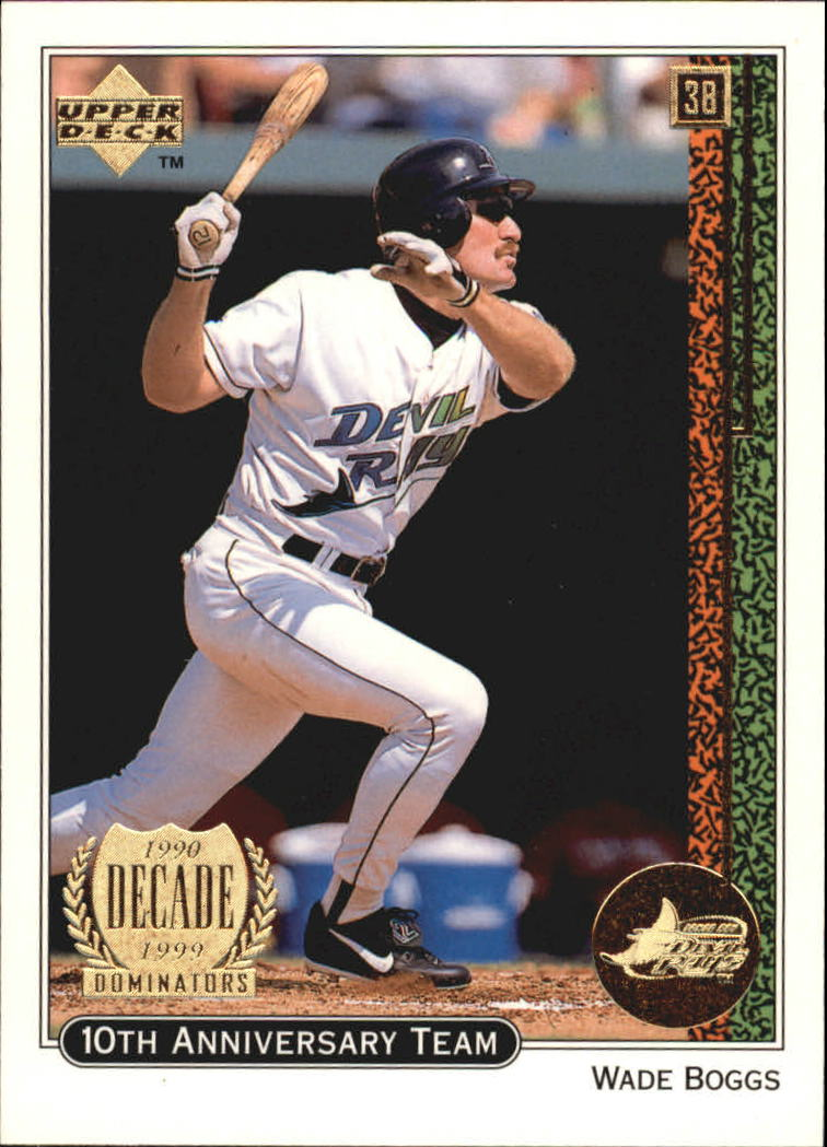 1999 Upper Deck 10th Anniversary Team #X15 Wade Boggs