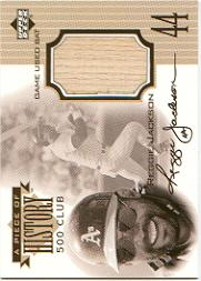 1999 Upper Deck A Piece of History 500 Club #RJ Reggie Jackson