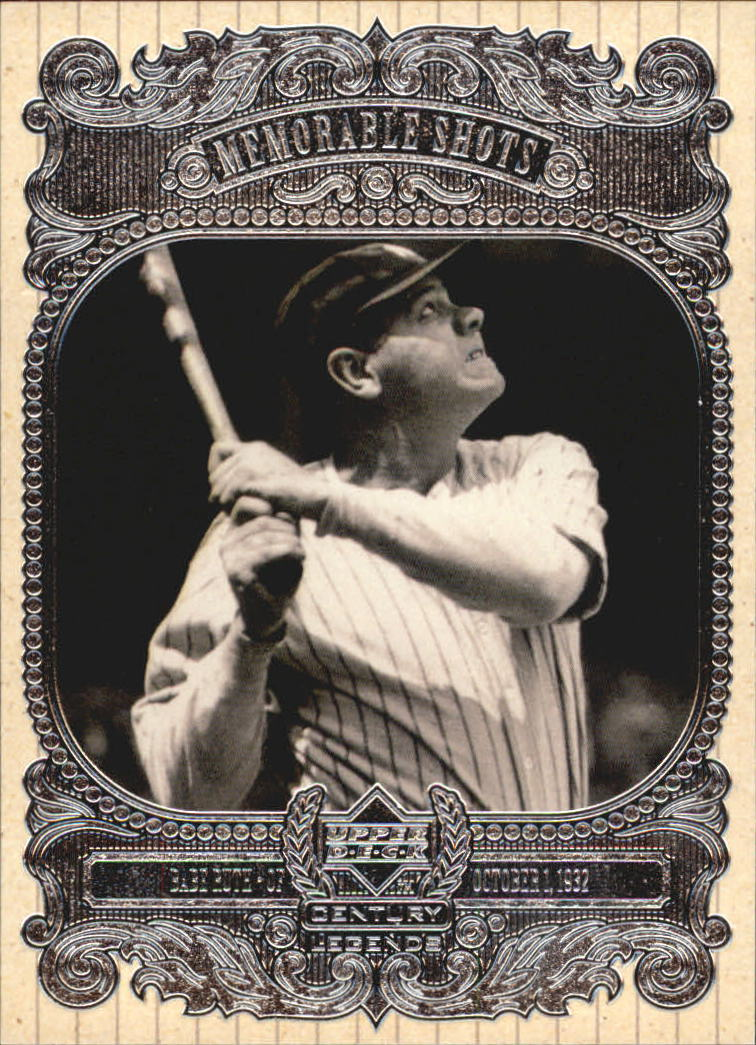 1999 Upper Deck Century Legends Memorable Shots #HR1 Babe Ruth front image