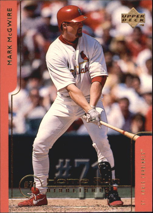 1999 Upper Deck Challengers for 70 #71 Mark McGwire HRH