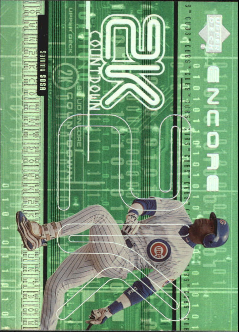 1999 Upper Deck Encore 2K Countdown #2K10 Sammy Sosa