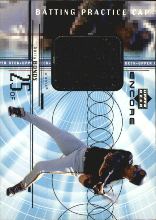1999 Upper Deck Encore Batting Practice Caps #CBB Barry Bonds