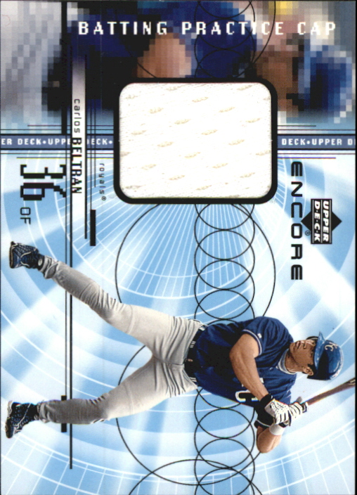 1999 Upper Deck Encore Batting Practice Caps #CCB Carlos Beltran