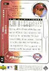 1999 Upper Deck MVP Silver Script #156 Scott Rolen back image