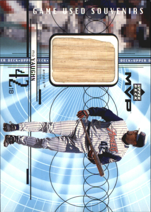 1999 Upper Deck MVP Game Used Souvenirs #GUMV Mo Vaughn