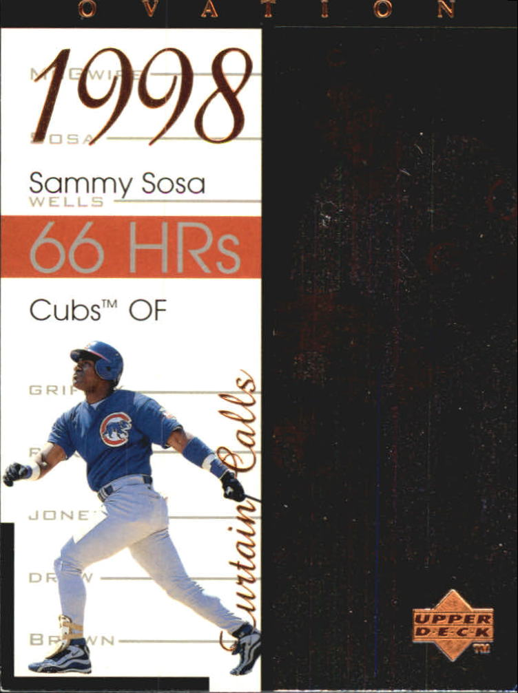 1999 Upper Deck Ovation Curtain Calls #R2 Sammy Sosa