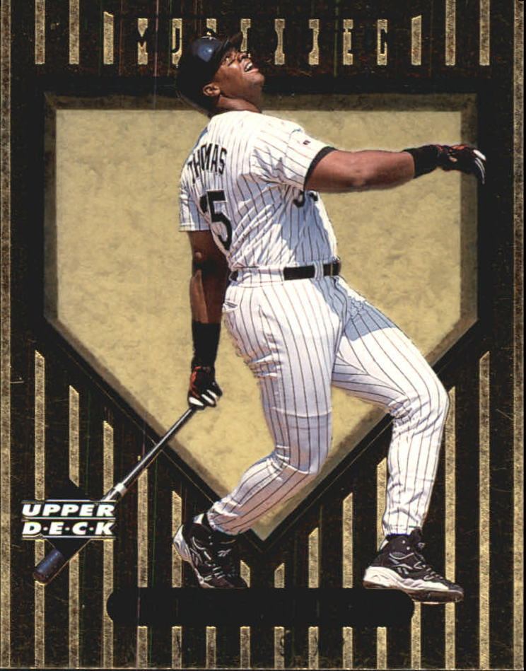 1999 Upper Deck Ovation Major Production #S10 Frank Thomas front image