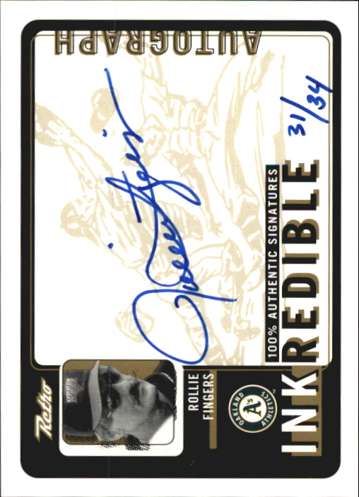 1999 Upper Deck Retro Inkredible Level 2 #RF Rollie Fingers/34