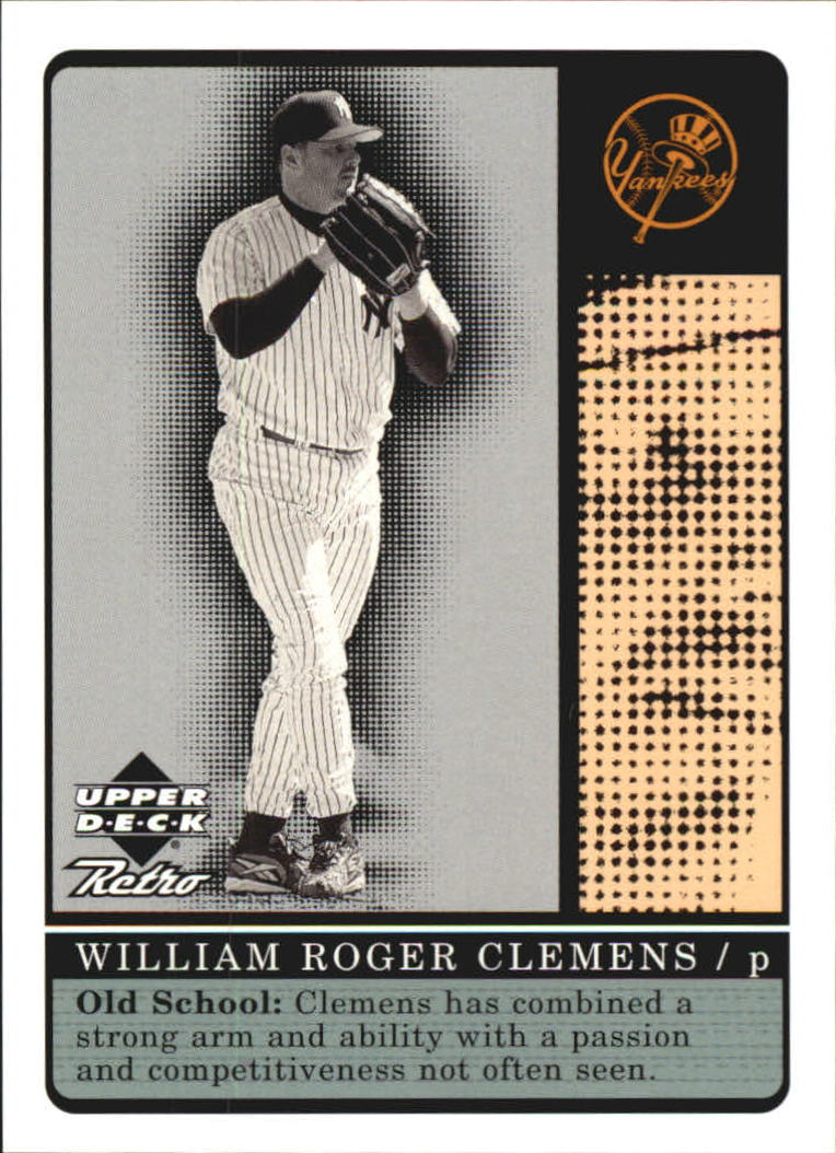 1999 Upper Deck Retro Old School/New School #S13 Roger Clemens front image