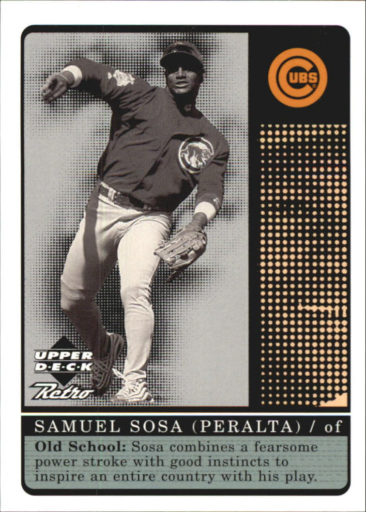 1999 Upper Deck Retro Old School/New School #S14 Sammy Sosa
