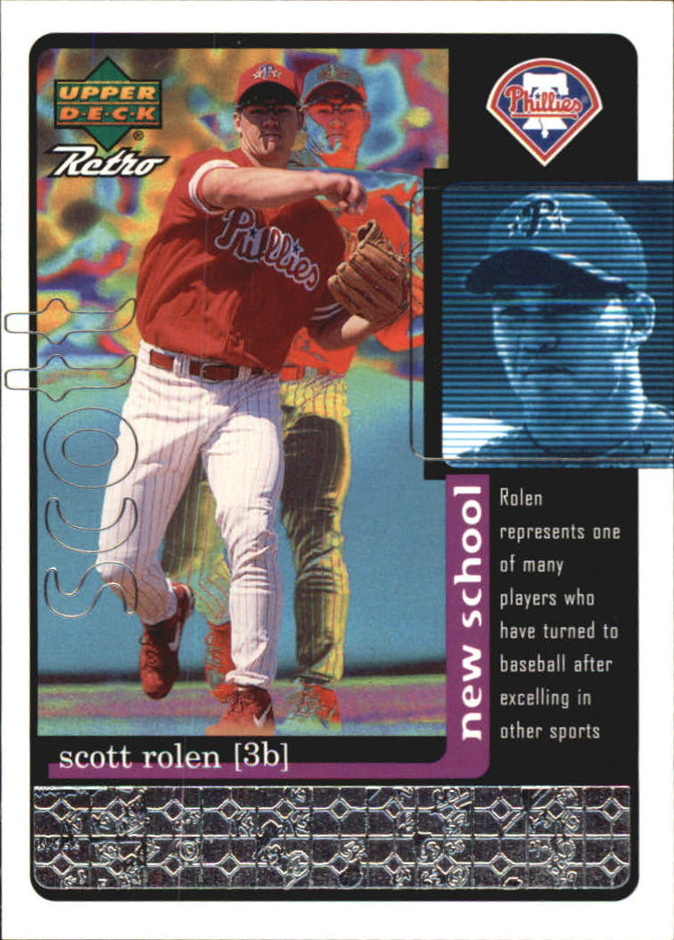 1999 Upper Deck Retro Old School/New School #S25 Scott Rolen