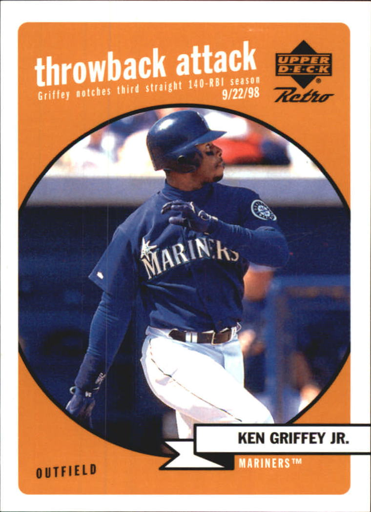1999 Upper Deck Retro Throwback Attack #T1 Ken Griffey Jr. front image
