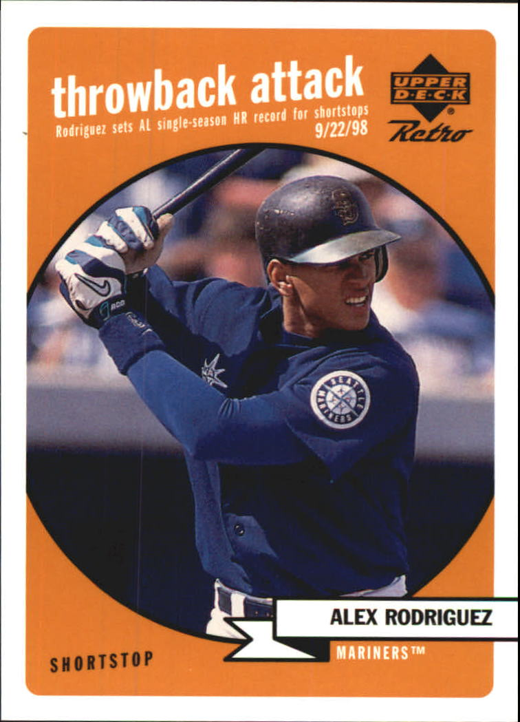 1999 Upper Deck Retro Throwback Attack #T6 Alex Rodriguez front image