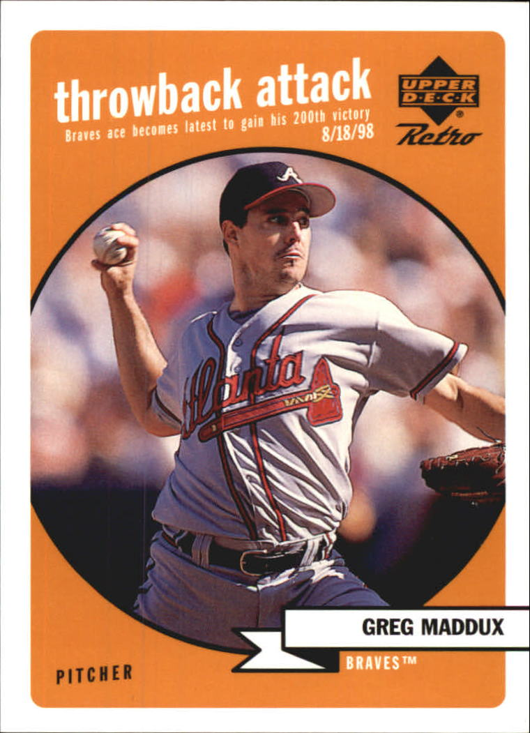1999 Upper Deck Retro Throwback Attack #T7 Greg Maddux
