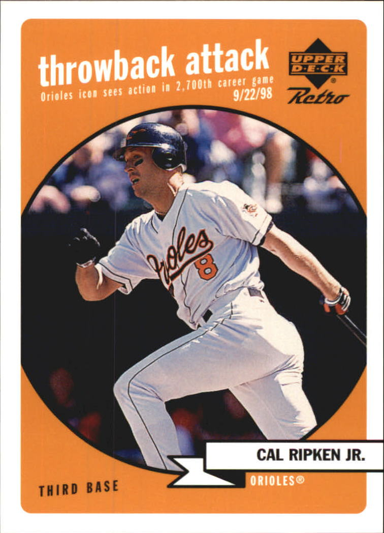 1999 Upper Deck Retro Throwback Attack #T11 Cal Ripken