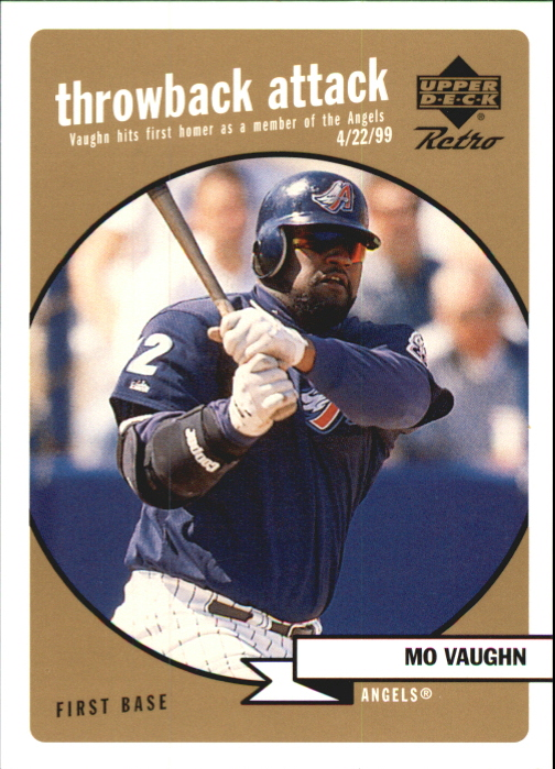 1999 Upper Deck Retro Throwback Attack Level 2 #T10 Mo Vaughn