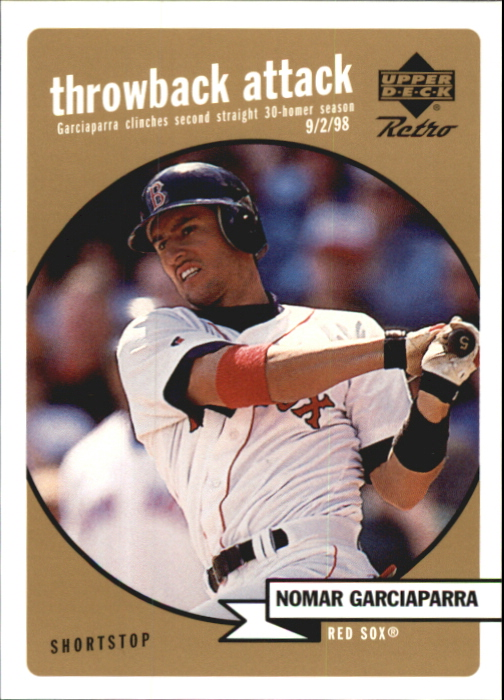 1999 Upper Deck Retro Throwback Attack Level 2 #T13 Nomar Garciaparra front image