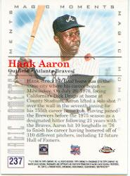 2000 Topps Chrome #237E H.Aaron MM 755th HR back image