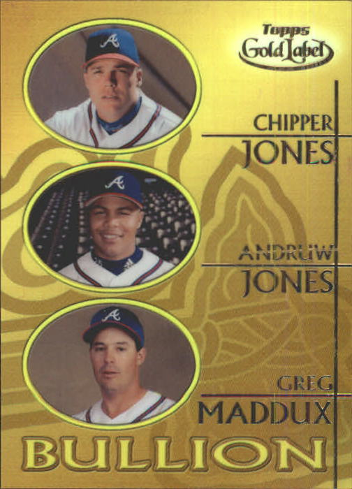 2000 Topps Gold Label Bullion #B3 C.Jones/A.Jones/Maddux