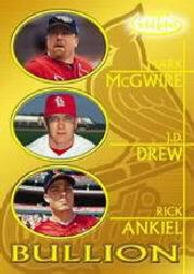 2000 Topps Gold Label Bullion #B6 McGwire/Drew/Ankiel