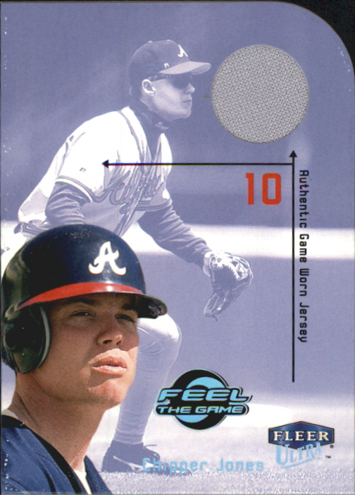 2000 Ultra Feel the Game #2 Chipper Jones Jsy