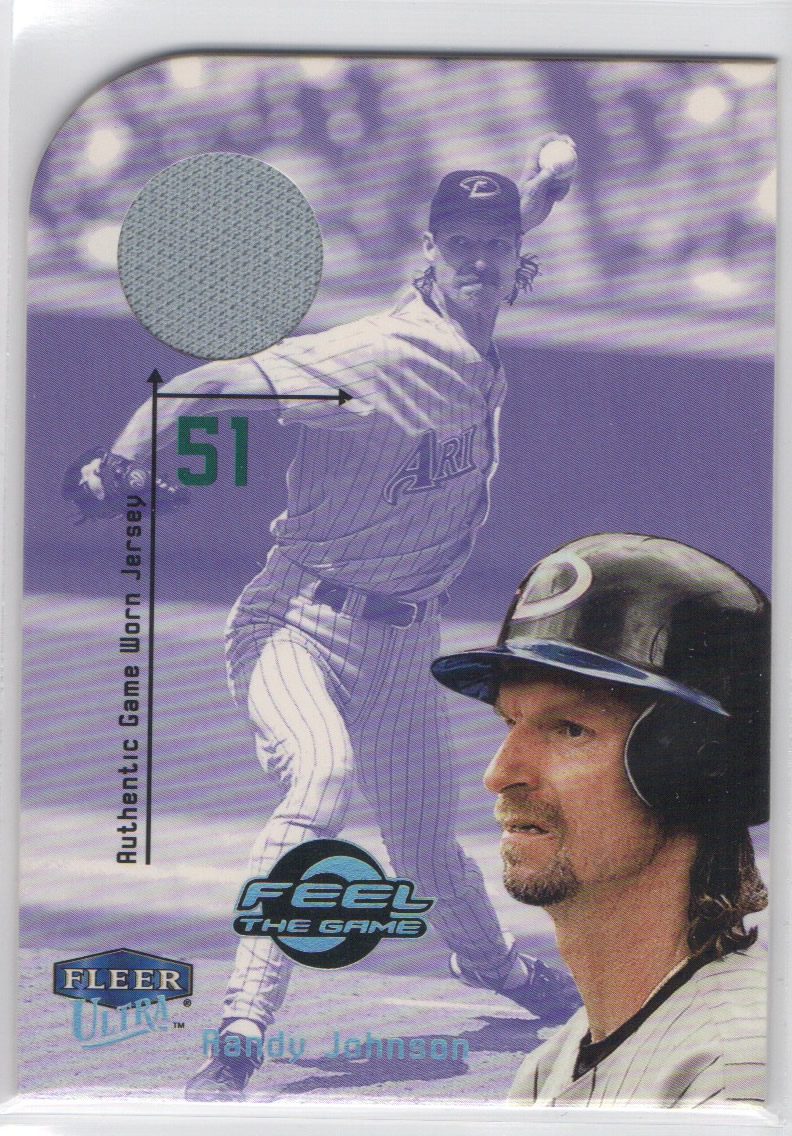 2000 Ultra Feel the Game #9 Randy Johnson Jsy