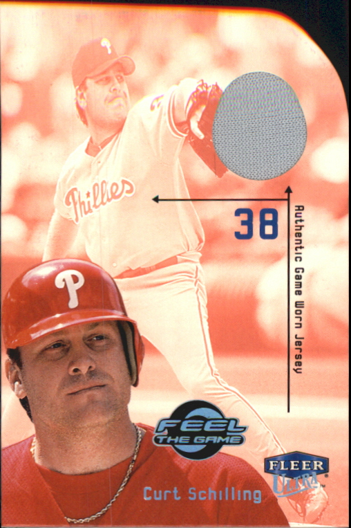 2000 Ultra Feel the Game #14 Curt Schilling Jsy