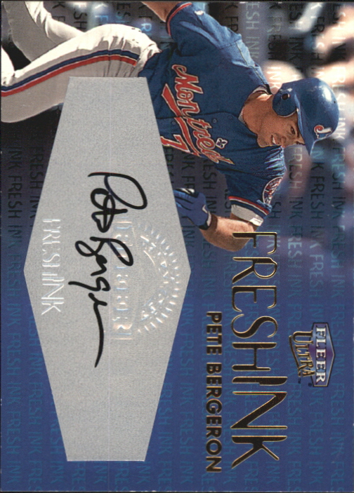2000 Ultra Fresh Ink #9 Peter Bergeron/1000