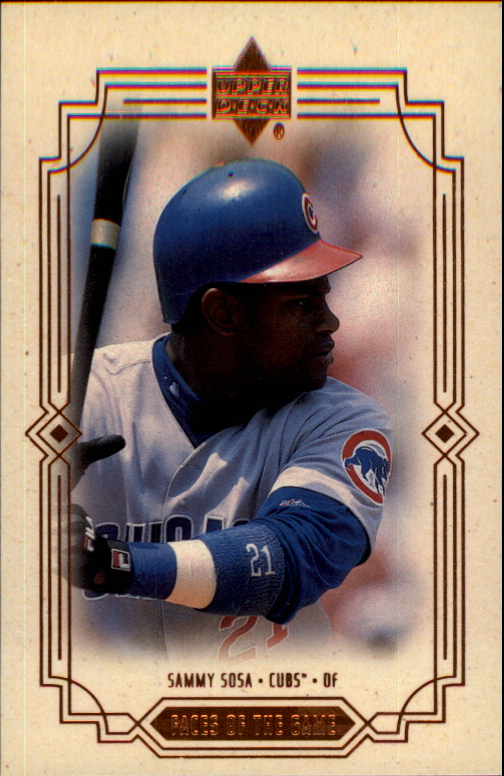 2000 Upper Deck Faces of the Game #F3 Sammy Sosa
