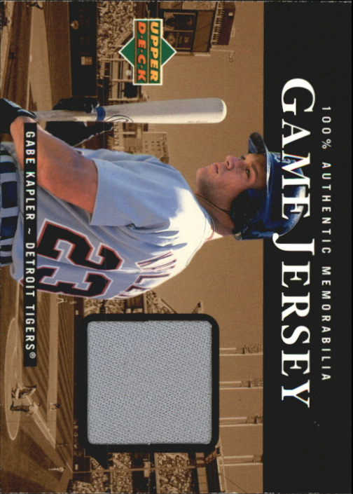 2000 Upper Deck Game Jersey #GK Gabe Kapler HR1