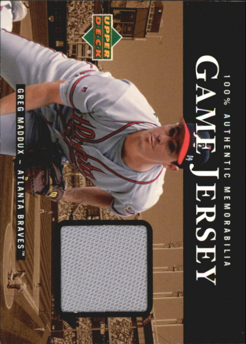 2000 Upper Deck Game Jersey #GM Greg Maddux HR1