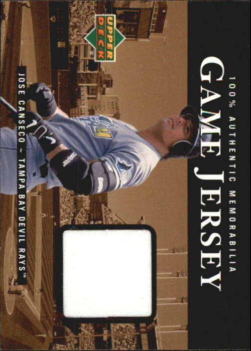 2000 Upper Deck Game Jersey #JC Jose Canseco HR1