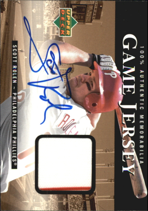 2000 Upper Deck Game Jersey Autograph #HSR Scott Rolen