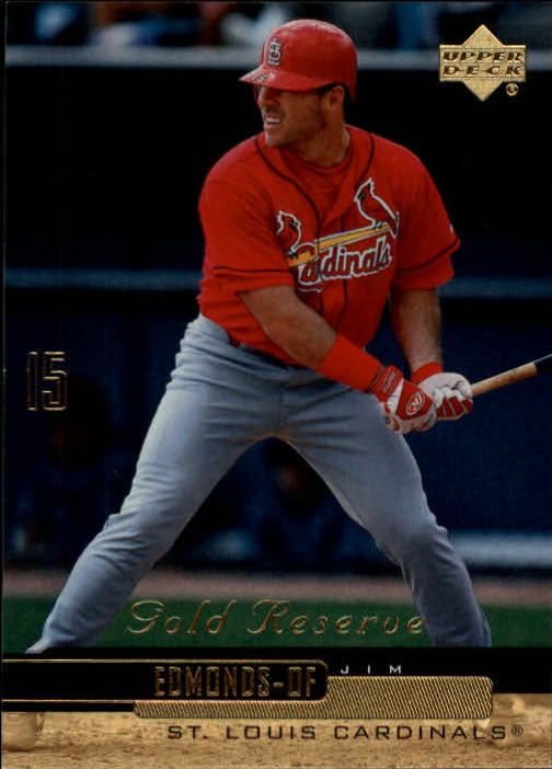 2000 Upper Deck Gold Reserve #157 Jim Edmonds