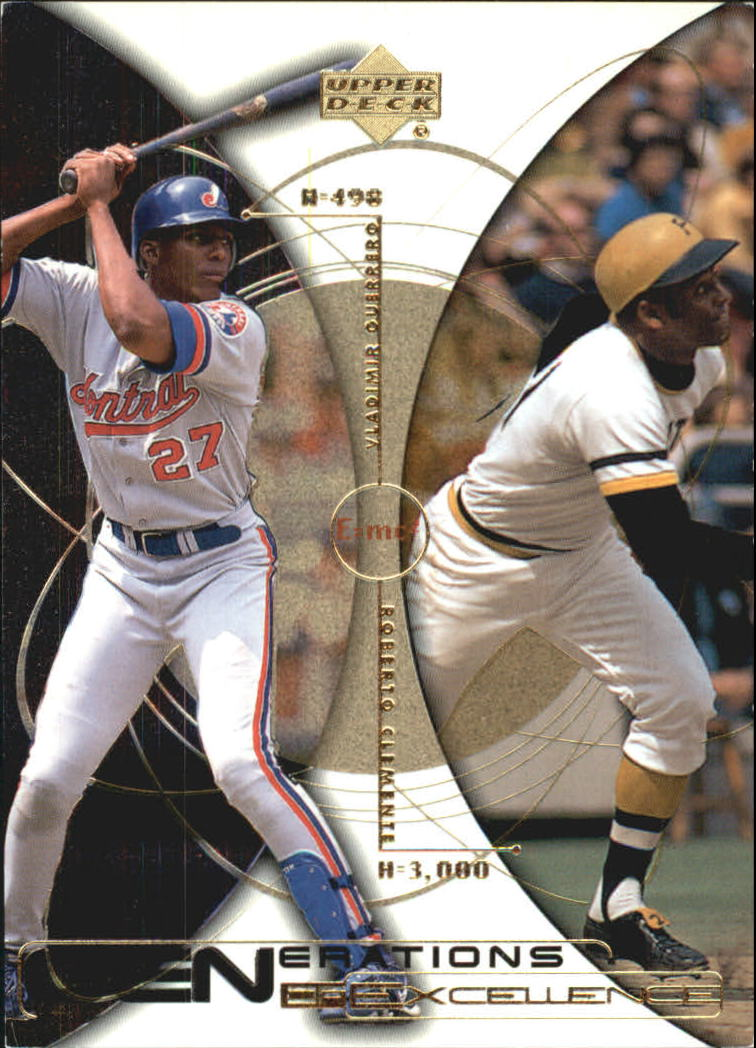2000 Upper Deck Hitter's Club Generations of Excellence #GE2 V.Guerrero/R.Clemente
