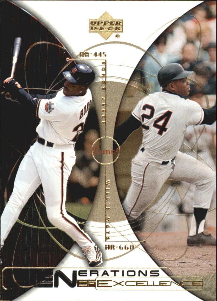 2000 Upper Deck Hitter's Club Generations of Excellence #GE4 B.Bonds/W.Mays