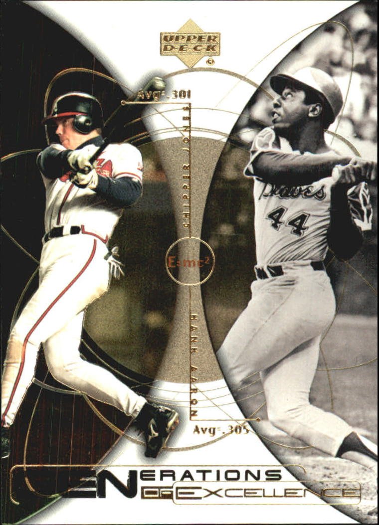 2000 Upper Deck Hitter's Club Generations of Excellence #GE5 C.Jones/H.Aaron