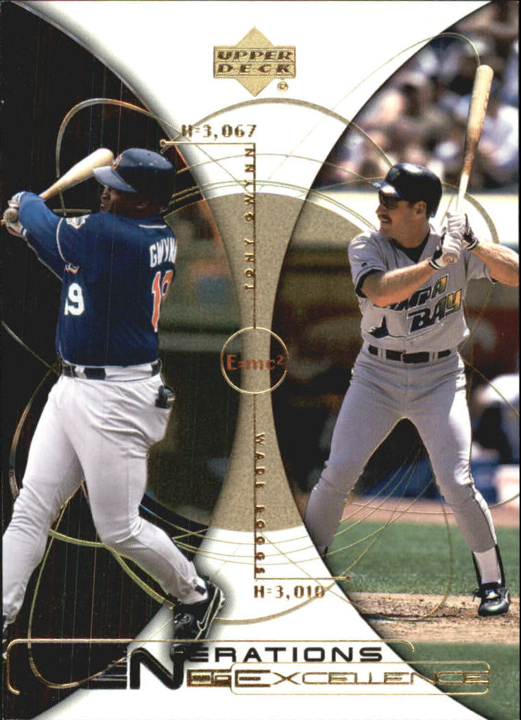 2000 Upper Deck Hitter's Club Generations of Excellence #GE7 T.Gwynn/W.Boggs