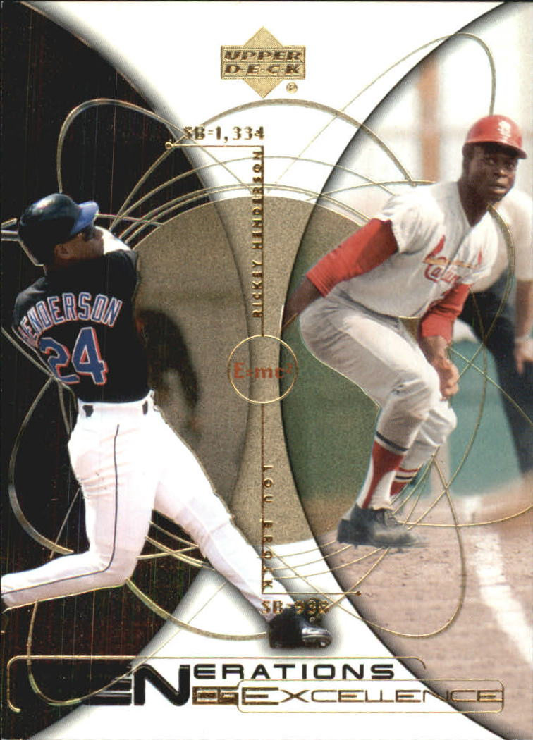 2000 Upper Deck Hitter's Club Generations of Excellence #GE8 R.Henderson/L.Brock