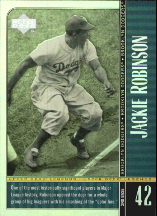 2000 Upper Deck Legends Commemorative Collection #27 Jackie Robinson
