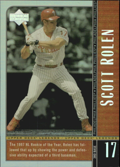 2000 Upper Deck Legends Commemorative Collection #61 Scott Rolen