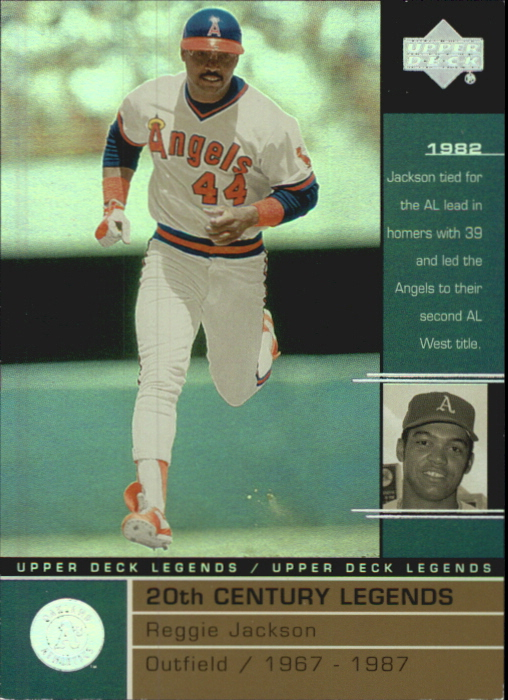 2000 Upper Deck Legends Commemorative Collection #118 Reggie Jackson 20C